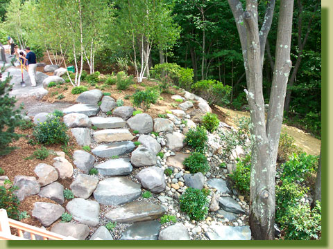 Kerns Nursery landscaped this project at the Boyle House