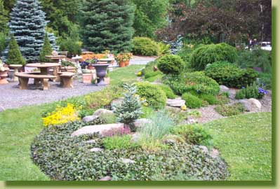 At Kerns Nursery, you can get lost of good ideas for your rock garden